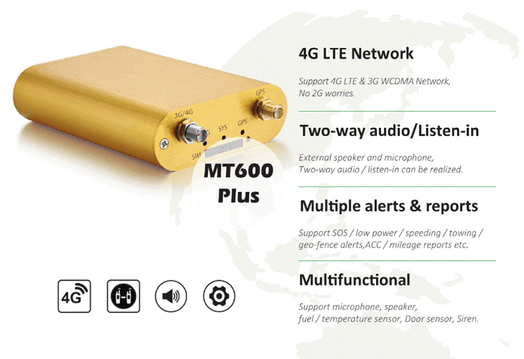 4G LTE GPS Tracker MT600 Plus